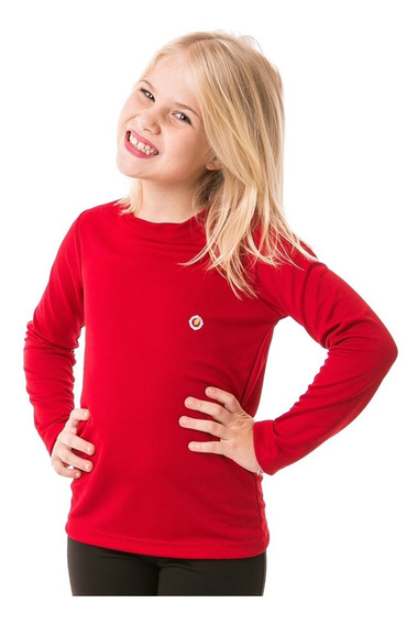 Camisa Proteção Solar Uv Infantil Feminina Manga Longa Dry