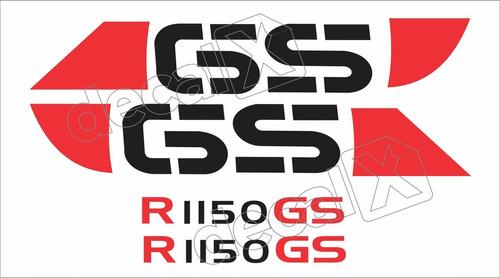 Emblema Adesivo Bmw R1150gs Prata Par Bwf1150gs05 Fgc