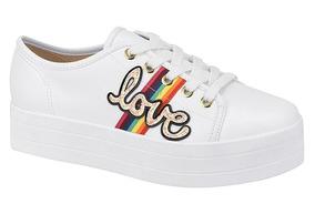 Tênis Moleca Love Branco Alto