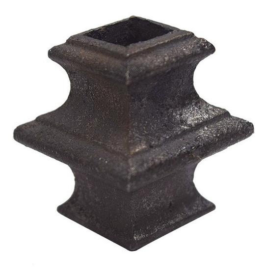 Figura Hierro Colado Herrería Nudo Cuadrado 1/2 L (med-maci)