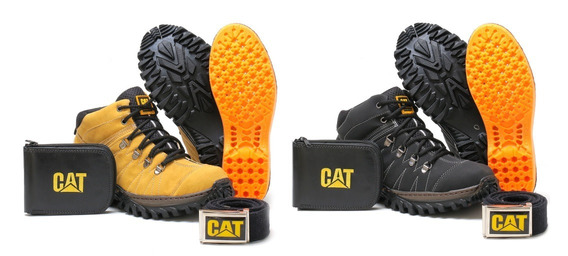Kit 2 Pares Bota Tenis Caterpillar Botinha Adventure+brindes