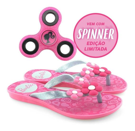 Chinelo Infantil Barbie Spinner Game 21809