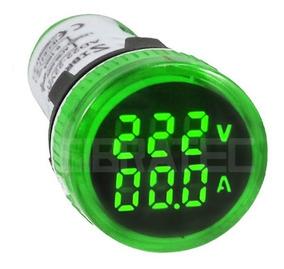 Voltimetro Amperimetro Digital 22mm 60-500v 0-100a Cores