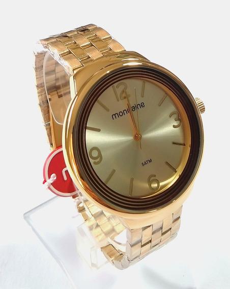 Relógio Dourado Feminino Mondaine Original 53655lpmvde1.