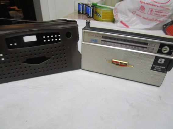 Rádio Vintage Mitsubishi 8x-584 Evadin Funcionando Preto