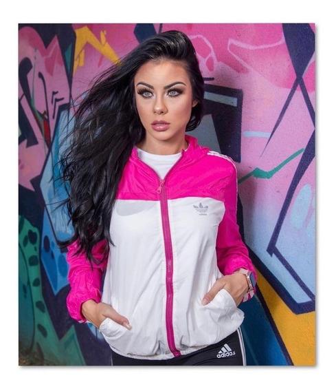 Jaqueta Feminino Corta Vento Adids Importado Refletivo