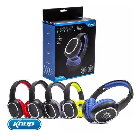 Headphone Bluetooth Knup Kp-439 Cores Com Microfone Original
