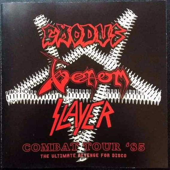 Combat Tour 85: Venom, Slayer, Exodus - Cd - Importado!