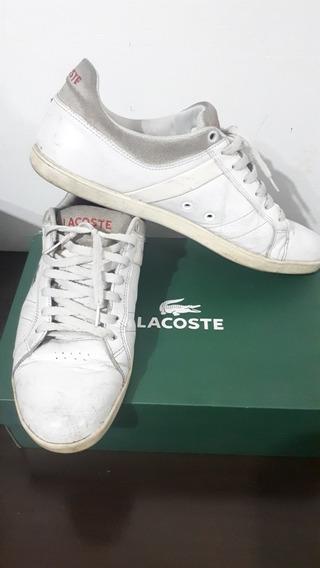 Zapatillas Lacoste Originales Blancas Talle 43