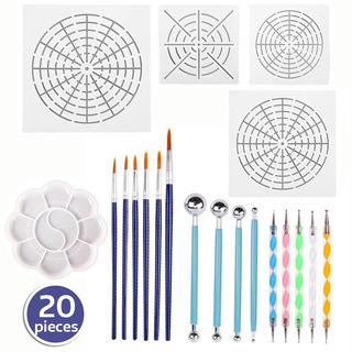 20 Unids Mandala Rock Dotting Herramientas Arte Pintura Conj