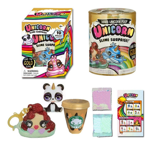 Make Unicorn Poop Slime Surprise Caja Sorpresa Para Niños.