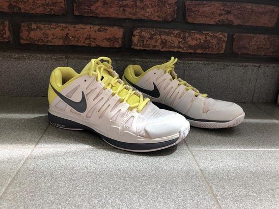 | Zapatillas Tenis | Mujer | Nike | Usado |amarillo Y Blanco