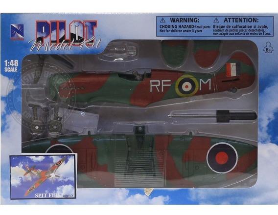 Kit Montar Avião De Combate Spit Fire Camuflado New Ray