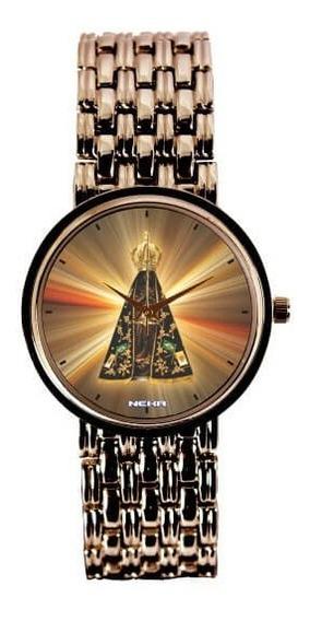 Relógio Feminino Cobre Nossa Senhora Aparecida Pôr Dosol3330