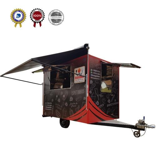 Imagem 1 de 11 de Trailer Lanche - Food Truck Trailer 3mx2m C/ Freio