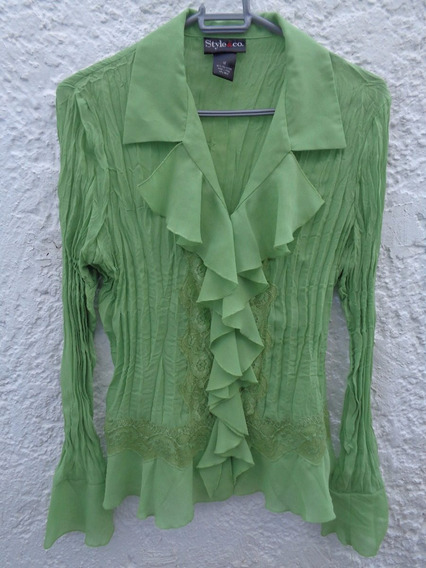 Camisa Social Style & Co. Verde Tam. M