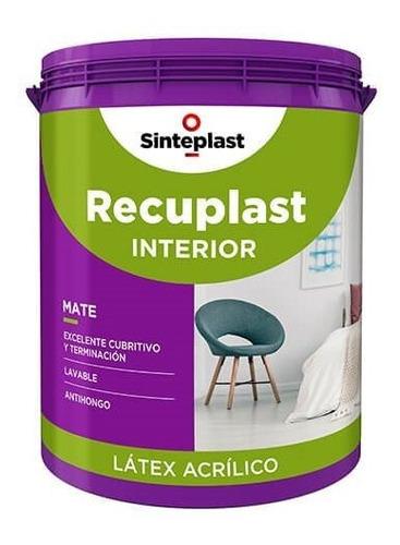 Recuplast Latex Mate Para Interiores 20lts  - Cuotas