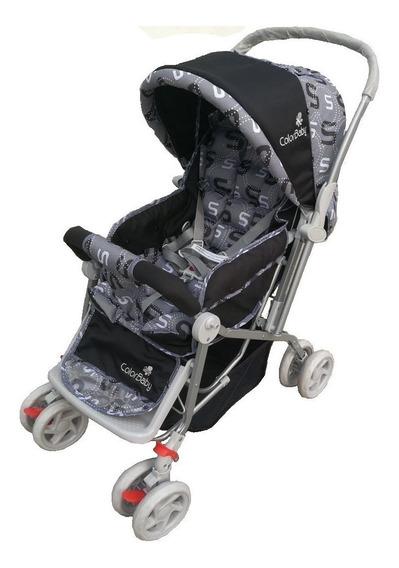 Carrinho Bebê Vira Berço Alça Reversível Várias Cores