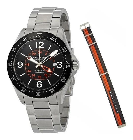 Relógio Hamilton Khaki Air Race Gmt H76755131 Automático