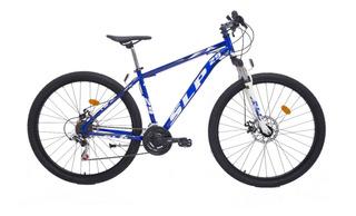 Bicicleta Mountain Bike Rodado 29 Slp 5 - Cambios Shimano Frenos Disco Llantas Doble Pared Suspension Varon Mujer Happy