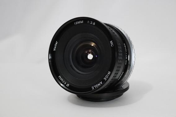 Grande Angular Vivitar Mc 19 Mm F / 3.8 Objetiva Lente Canon
