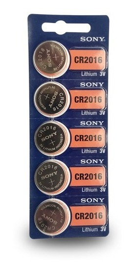 Bateria Cr2032/2025/2016 Sony Lithium 3v Cartela 5 Unids