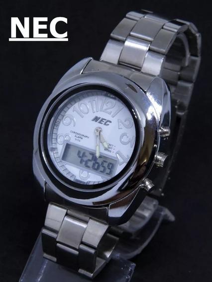 Relógio Prata Aço Inox Original Top Barato+ Caixa P. Entrega