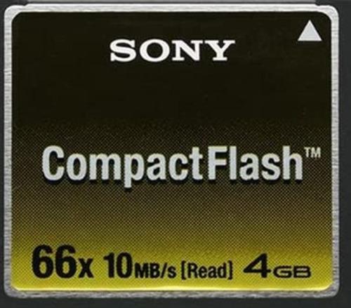 Compact Flash Sony 4gb  66x