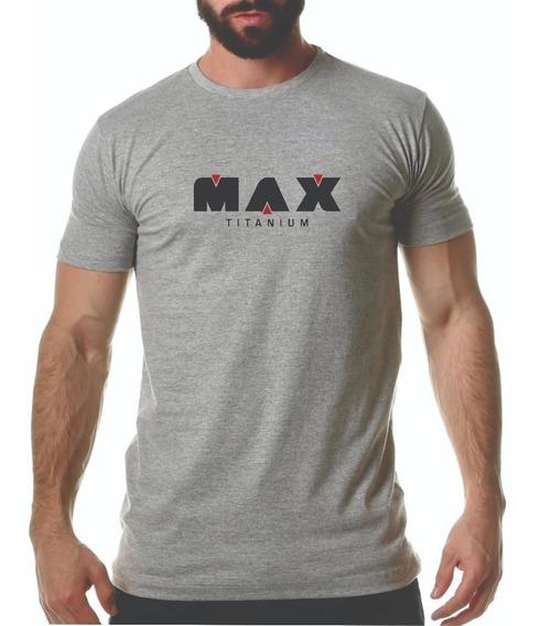Camiseta Max Titanium Masculina De Academia