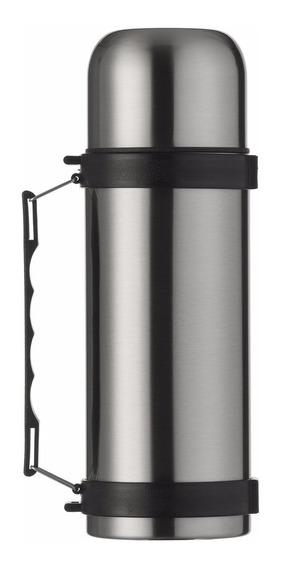 Garrafa Térmica Inquebrável Em Aço Inox De 1 Litro C/ Alça