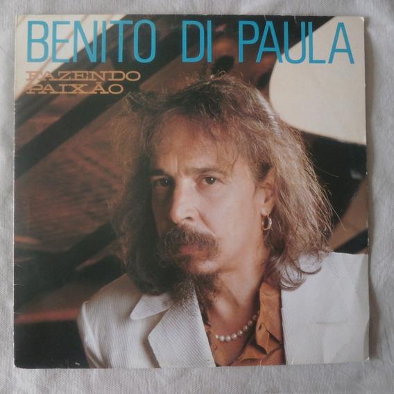 Lp Benito Di Paula 1990 Fazendo Paixão, Seminovo Com Encarte
