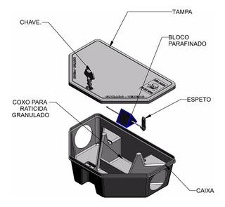Porta Isca P/ Alojar Veneno Raticida Mata Rato - 5un.