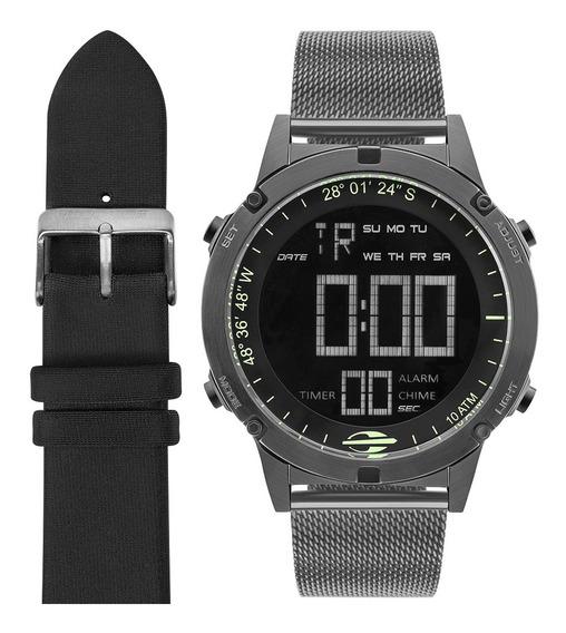 Relógio Digital Mormaii Pro Grafite Mow13901c/t4c