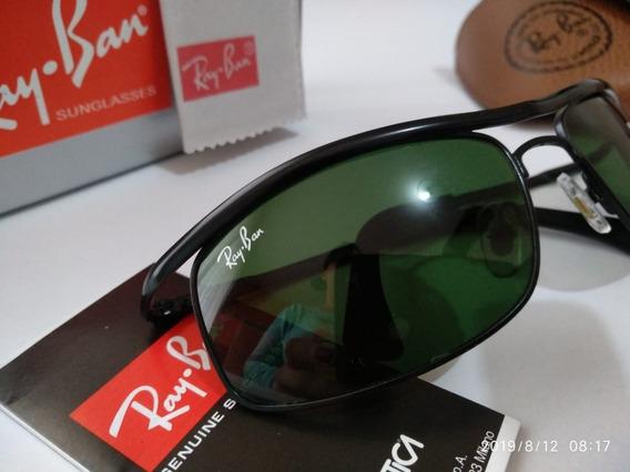 Óculos Ray Ban 3339 61m Obama Preto Lente Verde Cristal G15