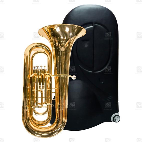 Tuba Bombardão De 4 Pistos Laqueado Michael Wbbm454 Instrume