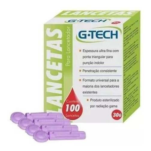 Lancetas - G-tech 100 Unidades