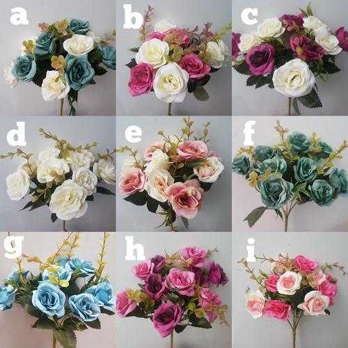 Ramo De 10 Flores Varios Colores Centros De Mesa Decoración