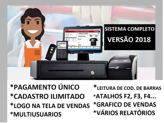 Sistema Pdv Completo Frente De Caixa -versão Atualizada 2018