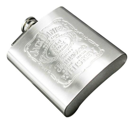 Petaca Whisky Jack Daniels Acero Inoxidable Grabado Laser