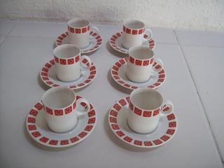 Jogo De Xícara De Café Com Pires Em Porcelana Steatita