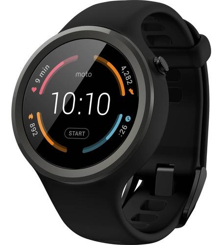 Motorola Moto 360 Smartwatch 45mm Sport Correa Goma Negro