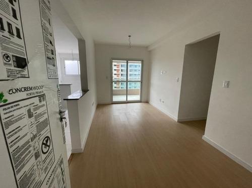 Apartamento Novo E Pronto Para Morar, Aceita Imóvel  Com 2 Dormitórios Sendo 1 Suíte À Venda, 72 M² Por R$ 350.000 - Canto Do Forte - Praia Grande/sp - Ap3628