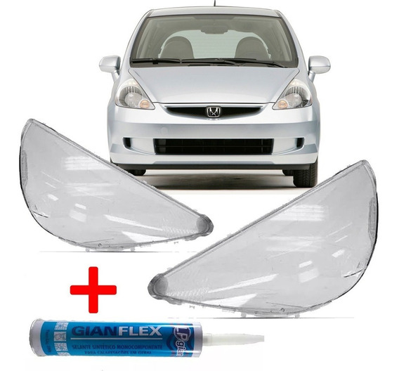 Kit Par Lente Farol Cola Honda Fit Ano 2003 04 05 06 07 2008
