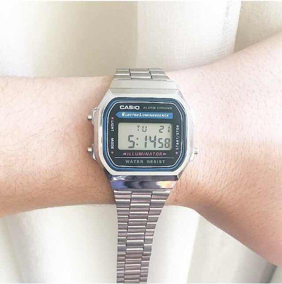 Relógio Casio Prata Femino Masculino Moda Unisex