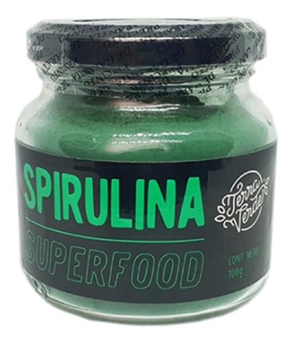Spirulina En Polvo 100 Gramos - Terra Verde - Super Alimento