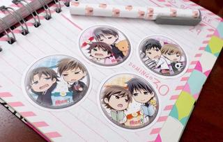 Set De 4 Stickers Circulares De Anime - Junjo Romantica