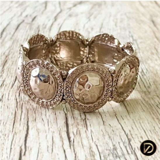 Pulseira Com Textura Craquelada Brown Light