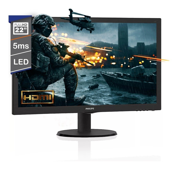 Monitor Philips 22 Pulgadas 223v5lhsb2/55 Gamer Led Hdmi Vga