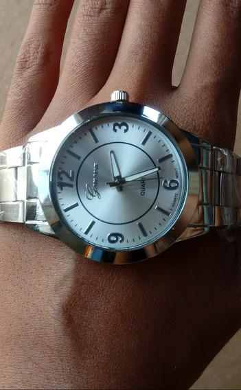 Relógio Feminino Analógico Prata Promoçao