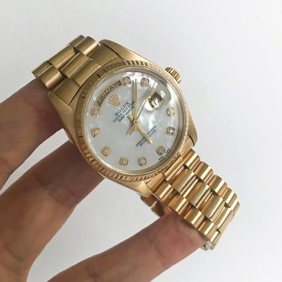 Rolex Day-date Presidente 36mm Fundo Madrepérola Diamantes